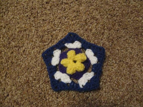 Crochet Flower Pentagon Pattern Pdf File Etsy