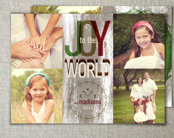 Rustic Christmas Photo Card | Country Christmas Photo Card | Storybook Style Holiday Photo Card