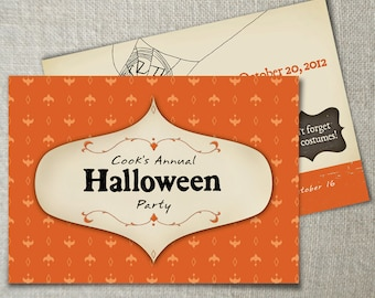 2-sided Halloween party invitation | Kids Halloween party idea | Adult Halloween costume party | Halloween birthday party