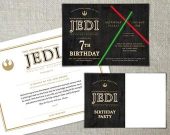 Star Wars Birthday Printable Package | Jedi Training Party Bundle | Kids Star Wars Party | Jedi Training Academy Party Idea