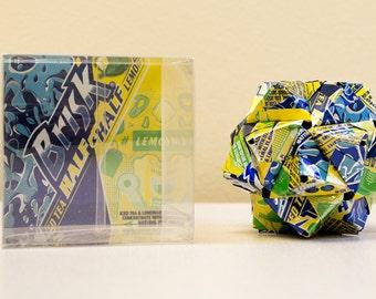 Lipton Brisk Half & Half Origami.  Upcycled Recycled Repurposed Reused Art.