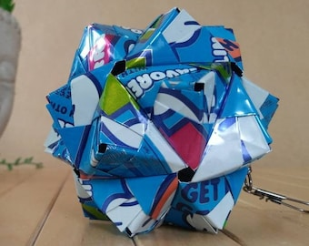 UGLY Sparkling Water Can Art Origami Ornament // Upcycled Recycled Repurposed // Heavy Duty // 3 Inches