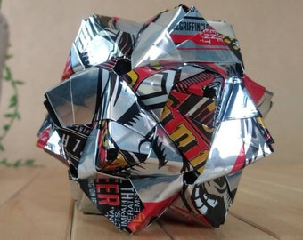 Recycled Origami Can Art // GRIFFIN CLAW Norm's Raggedy Ass IPA // Upcycled Recycled Repurposed Can Art.