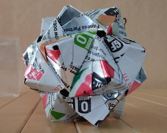 Origami Can Art, Hand-folded from Recycled CELCIUS Cans, Mixed Flavors