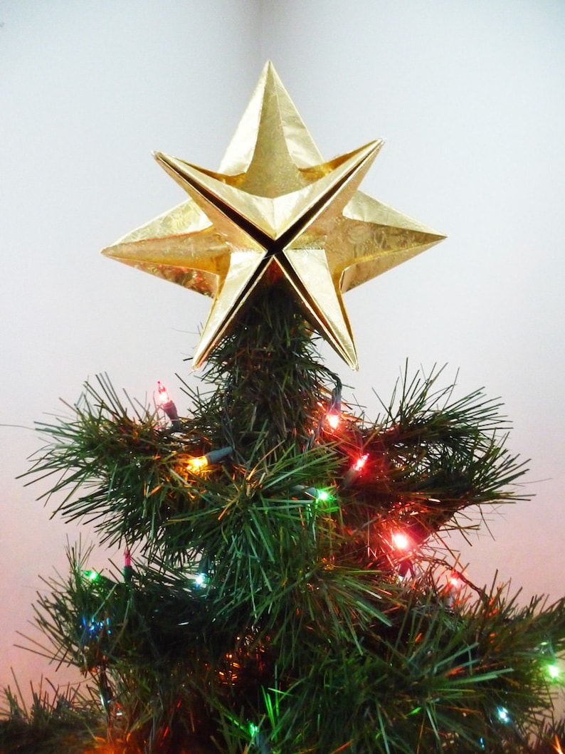 PAPYRUS Origami Christmas Tree Topper  Gold Star Classic image 2
