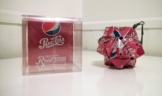 Wild Cherry Pepsi Can Origami Ornament // Upcycled ... - photo#14