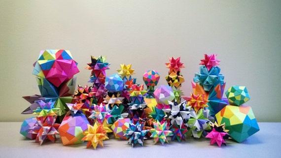 ORIGAMI Christmas Ornaments // Christmas Decoration // Stars | Etsy
