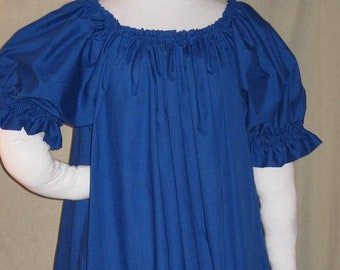 DDNJ NEW Choose Color Renaissance  Short Slv Ruffle Cuff Plus Custom Made ANY Size Pirate Medieval Wench Costume Nightgown Victorian Gypsy