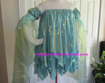 f4e5daee17b DDNJ Choose Color Fairy Chemise Off Shoulder Detached Slv Petal Hem Anime  Pixie Plus Custom Made ANY Size Renaissance Pirate Gypsy Costume