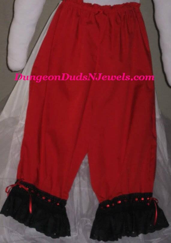 DDNJ choisir votre couleur Bloomer Plus fait sur mesure à vos mesures Renaissance guerre civile Pirate Gypsy Witch GN Cosplay Costume Halloween