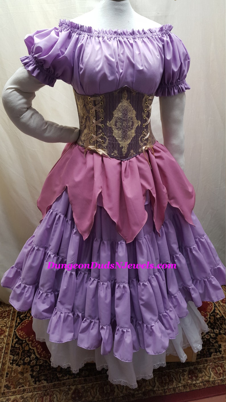 DDNJ NEW Choose Color Renaissance  Short Slv Ruffle Cuff Plus Custom Made ANY Size Pirate Medieval Wench Costume Nightgown Victorian dress