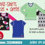 Slimfit shirt for kids • EU sizes 104–164 • GERMAN text sewing pattern & instructions • slim unisex longsleeve childrens' T-shirt teenies