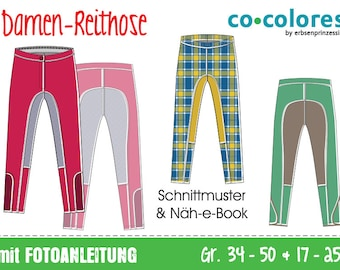 GERMAN instructions Riding pants for ladies • sewing pattern • EU sizes 34–50