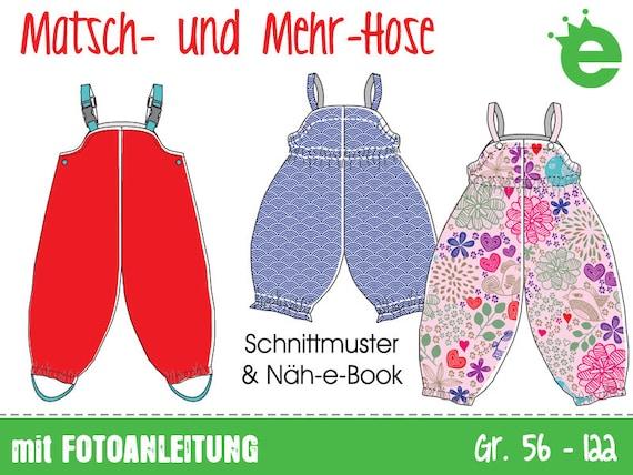 Matsch und Mehr-Hose Gr. 56-122 Näh-e-Book mit | Etsy