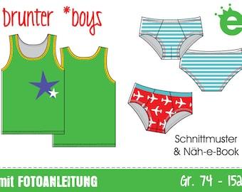 GERMAN VERSION: Drunter *boys • Gr. 74-152 • e-Book & Schnitt GERMAN version
