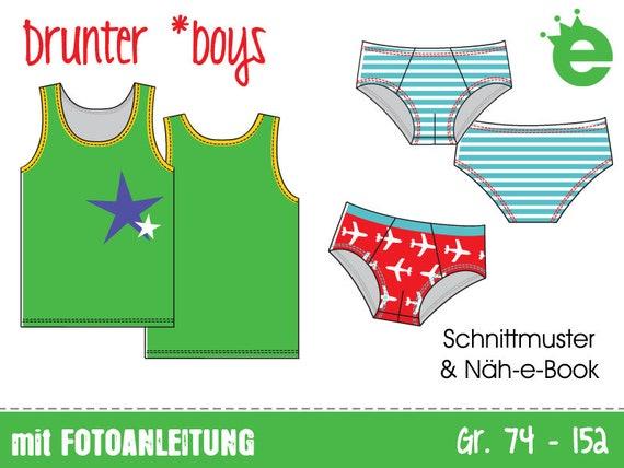 Drunter boys Gr. 74-152 e-Book & Schnitt Schnittmuster | Etsy