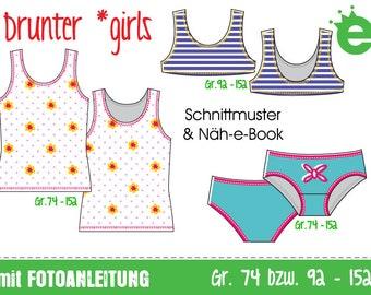 GERMAN VERSION: Drunter *girls • Gr. 74-152  GERMAN version sewing pattern