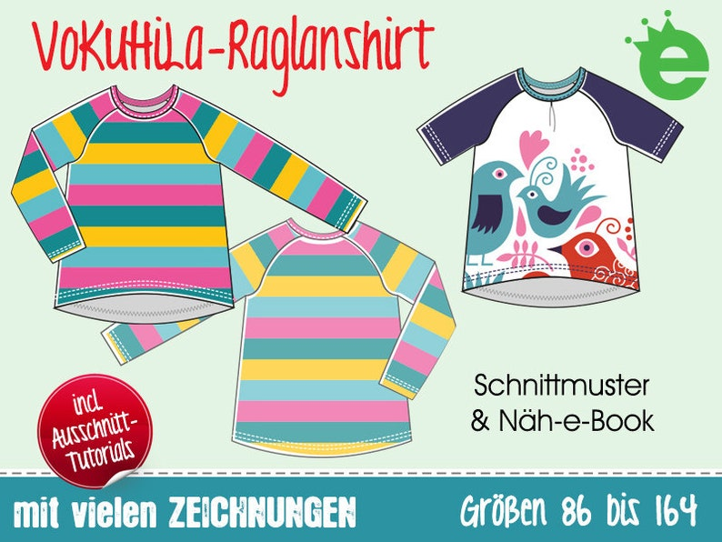 fbd7e2a37c VoKuHiLa-Raglanshirt Gr. 86-164 Kindershirt Sweatshirt   Etsy