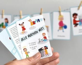 """Kartenset """"Alle machen mit"""" • Familien, Kinder, Haushalt"""