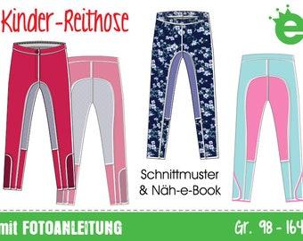 GERMAN instructions Riding pants for kids • sewing pattern  • EU sizes 98-164 •  trousers children girls horse leggings • pdf download