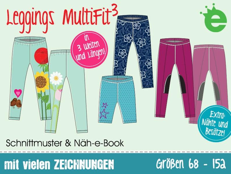 GERMAN instructions Kinder-Leggings MultiFit  EU sizes 68152 image 0