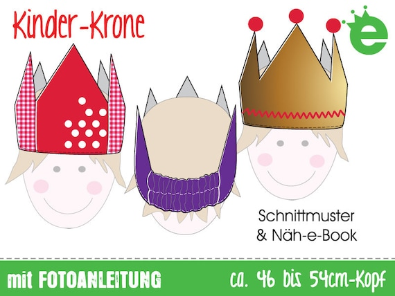 Nähanleitung & Schnitt: Krone / Faschingskrone / | Etsy