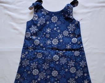 Blue Snowflake Dress Dress - Toddler Dress - Christmas Dress