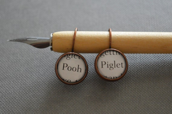 Pooh And Piglet Winnie The Pooh Earrings by Etsy