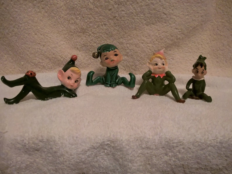 Elf or Pixies, Set of 4, Free Shipping