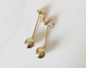 Vintage Plated Drop Earrings