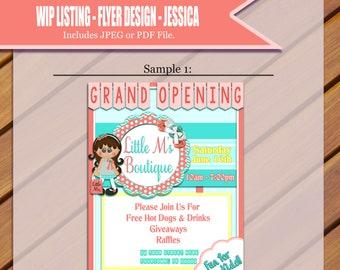 Custom Grand Opening Flyer