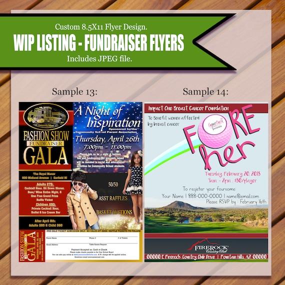 custom fundraiser flyer etsy