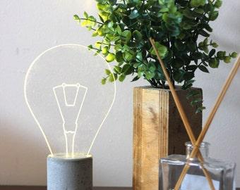 modern design lamp / minimalist lamp / modern home decor / night light / lighting fixture / modern table lamp / table lamp / bulb lighting