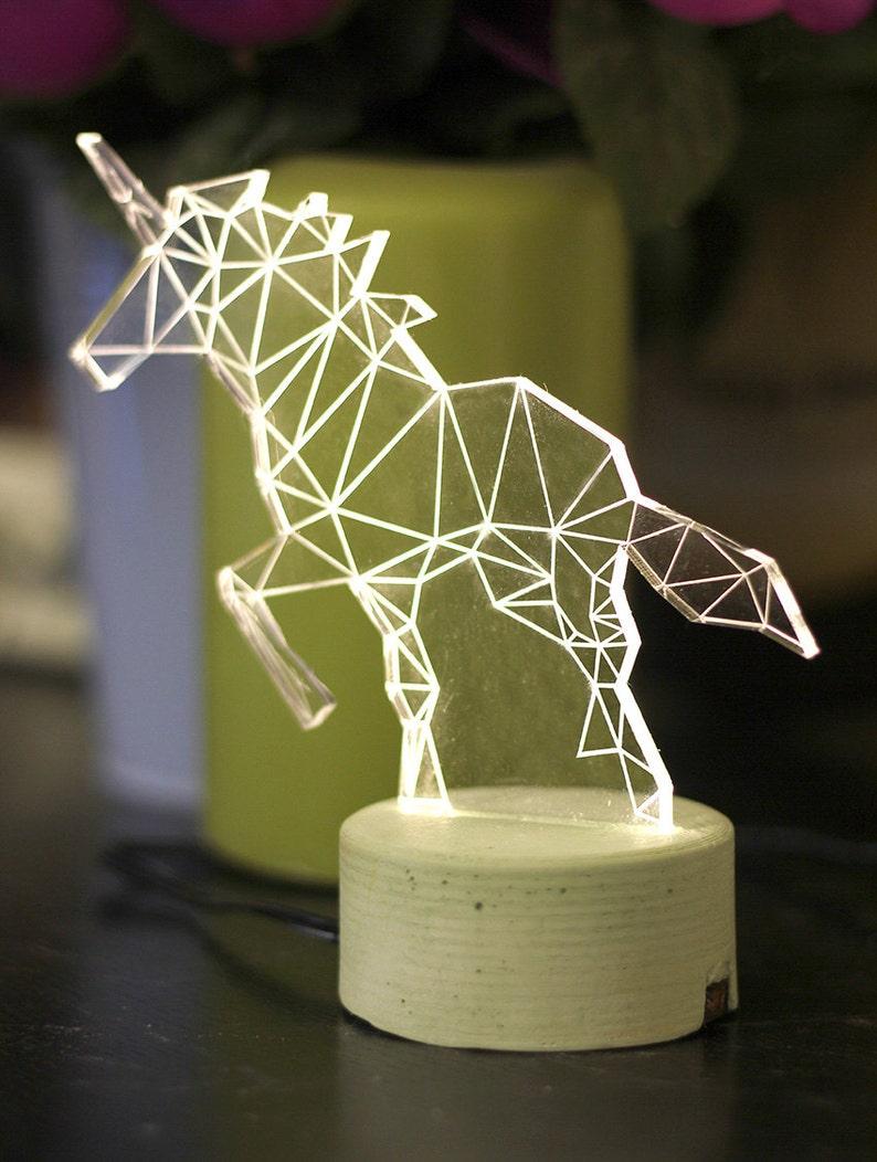 Unicorn lamp decorative table lamp unicorn night light image 0