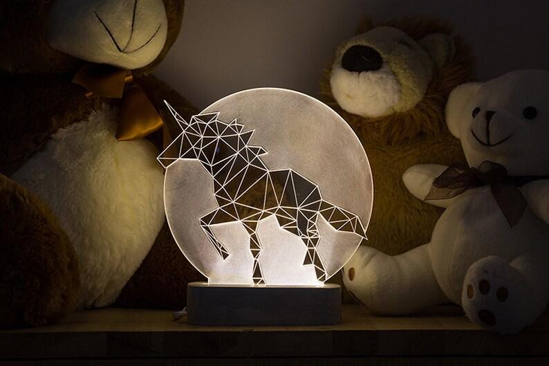 Lampe Qdoeecxbrw Pleine Licorne Chevet De Ehiwd29 Lune Ledetsy DEHW2I9