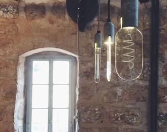 KAPSULITE trio lamp / Carbon bulb 'take-off' /  Decorative ceiling lamps / Pendant lights / LED bulbs