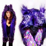 Great Horned Owl - Faux Fur Hats - Scoodie - Spirit Animal