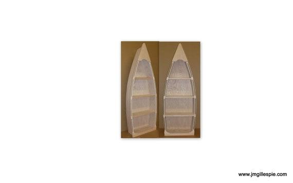 5 Foot Row Boat Bookcase Custom Handmade Wood