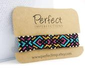 Friendship Bracelet Handwoven Macramé / PerfectImp Best Friend Wrist Wrap / Colorful Braclet Handmade Woven Aztec Bracelet / Knotted Braclet