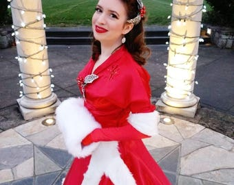 White Christmas Costume - Red Ballgown