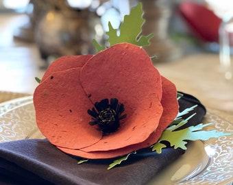 Wildflower Seeded Poppy Favor