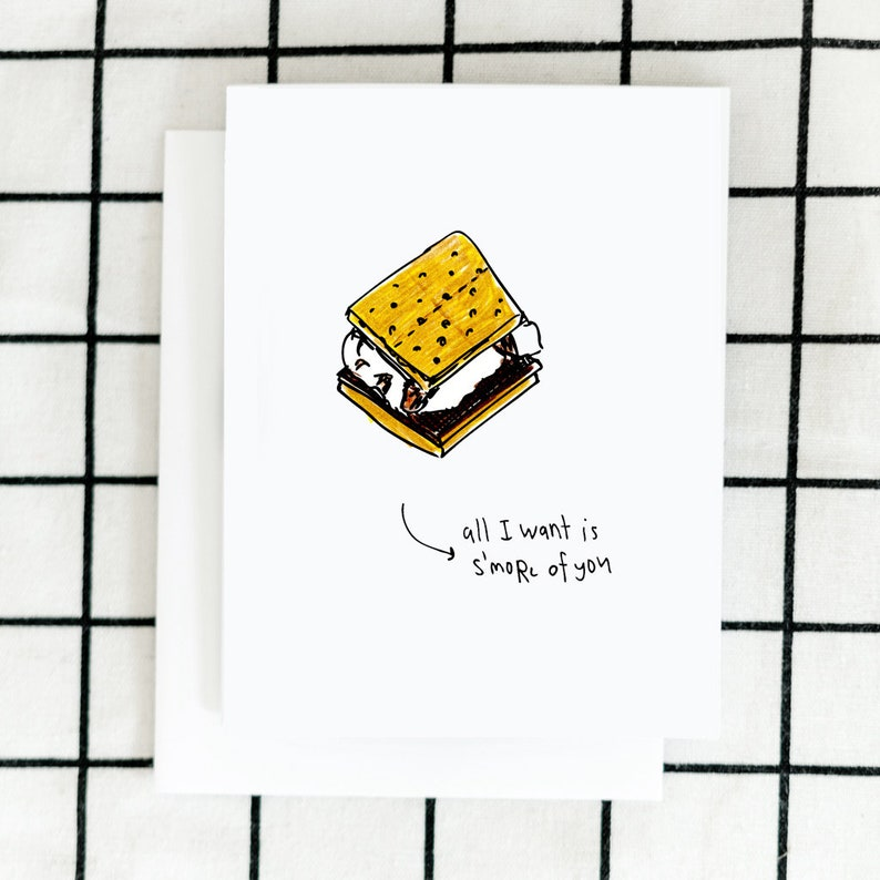 S'more of You Card Campfire Card Greeting Card image 0