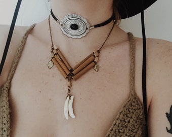 Coyote Native BreastPlate Necklace