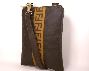 Fendi Inspired, Designer Crossbody Bag, iPhone Bag, Small Crossbody Bag,  Cell Phone Bag 48fa59f7a3