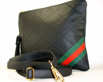 14682f064642 Gucci Inspired Crossbody Bag, Convertible Crossbody Bag, Designer Wristlet, Vegan  Handbag