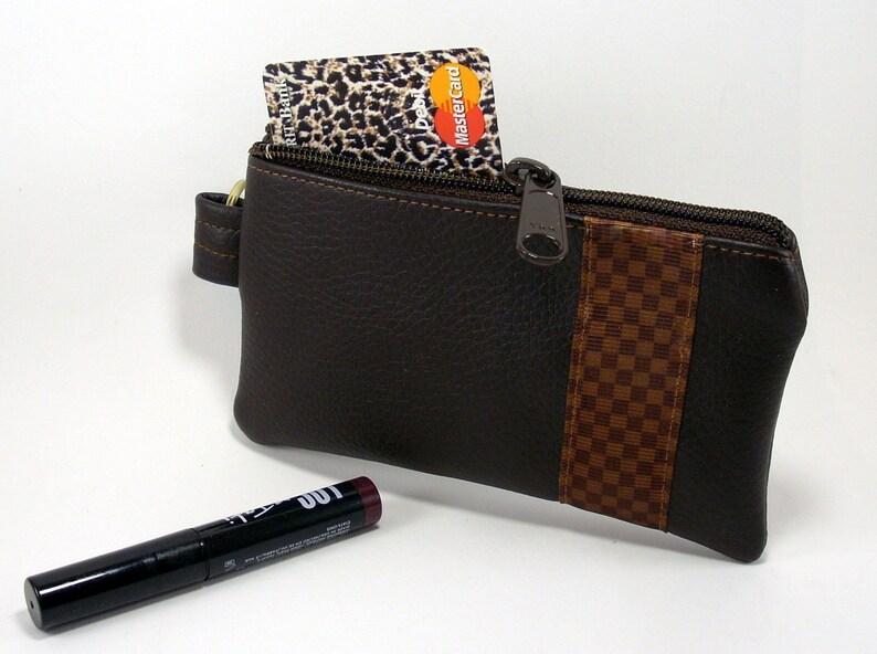 0b2a7c7c8913 Louis Vuitton Inspired Key chain Wallet Brown Key Fob Vegan