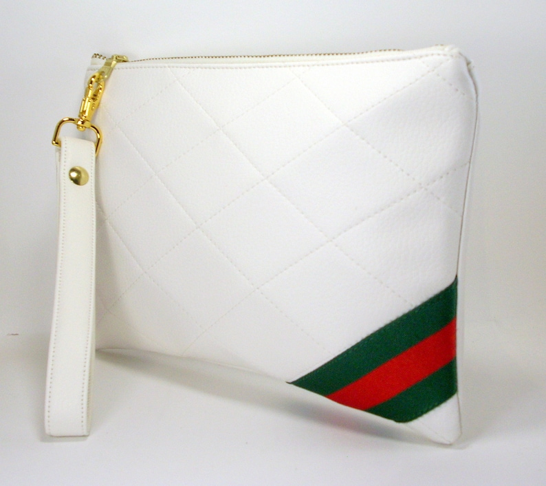 86f834c2f28a Gucci Inspired Wristlet Quilted Clutch Convertible Crossbody