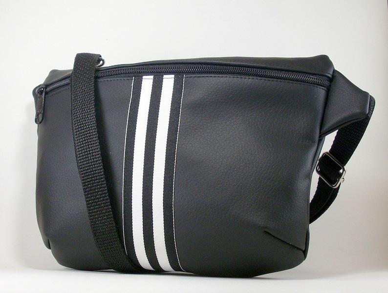 df566df5585f Sports Waist Bag Black Fanny Pack Vegan Fanny Pack Black | Etsy