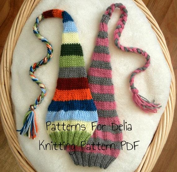 Stocking Hat Knitting Pattern Newborn Baby Infant Toddler Etsy