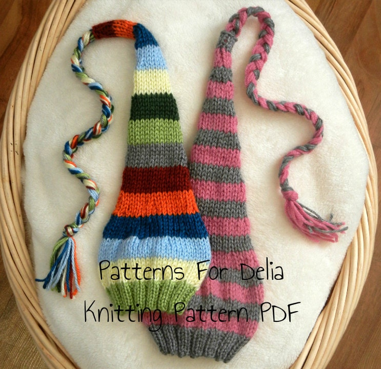 e3f10cc43d0 Stocking Hat KNITTING PATTERN newborn baby infant toddler